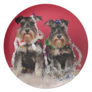 Christmas Pups Dinner Plate