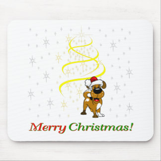 Christmas Pups Mouse Pad