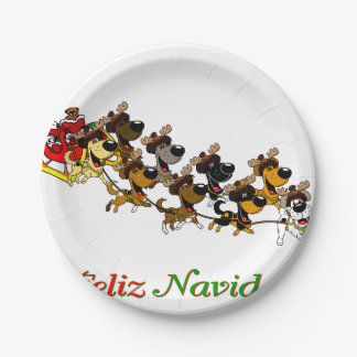 Christmas Pups Paper Plate