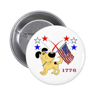 Christmas Pups Pinback Button