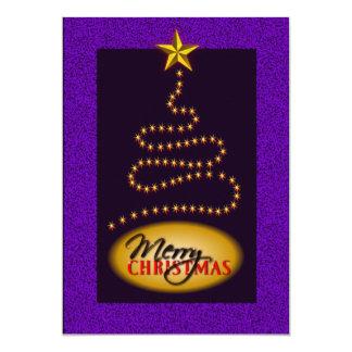 Christmas Purple and Gold Party Invitation Invite