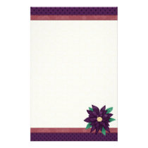 Christmas Purple stationary Stationery