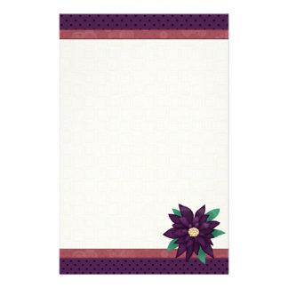 Christmas Purple stationary Stationery