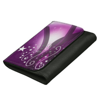 Christmas Purple Style Leather Wallet For Women