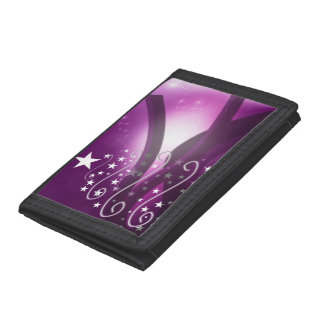 Christmas Purple Style Trifold Wallets