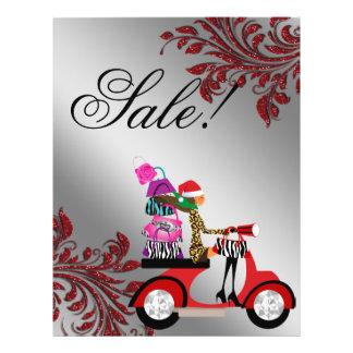 Christmas Purse Salon Flyer Sale Handbag Fashion