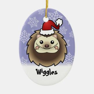 Christmas Pygmy Hedgehog (add your pets name) Ceramic Ornament