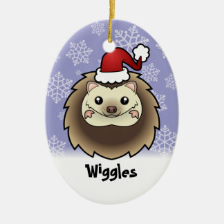 Christmas Pygmy Hedgehog (add your pets name) Ornaments