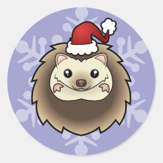 Christmas Pygmy Hedgehog Classic Round Sticker