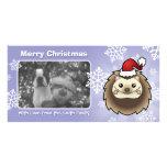 Christmas Pygmy Hedgehog Customized Photo Card