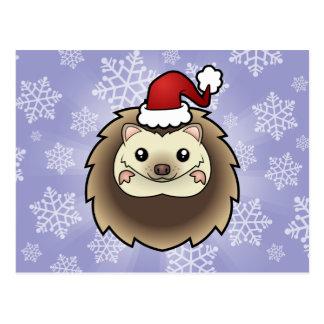 Christmas Pygmy Hedgehog Postcard