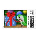 Christmas Quaker Parakeet Postage Stamps
