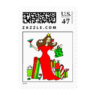Christmas Queen Postage