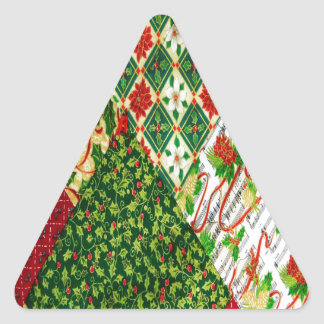 Christmas Quilt Background Triangle Sticker