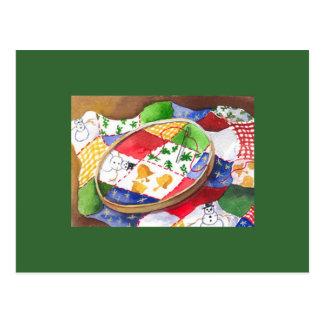 Christmas Quilt Postcard