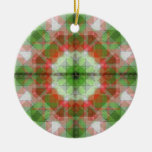 Christmas quilts  2 in 1  different on each side Double-Sided ceramic round christmas ornament
