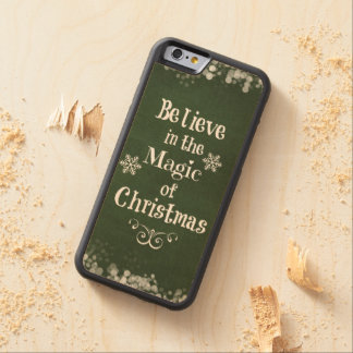 Christmas Quote Carved® Maple iPhone 6 Bumper Case