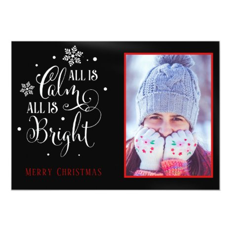Christmas Quote/ Elegant Two Sided Photo Christmas Card