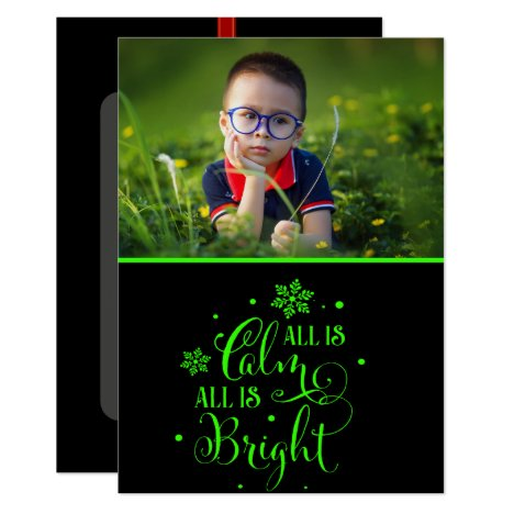 Christmas Quote/  Green Copy 2-Sided Photo Card
