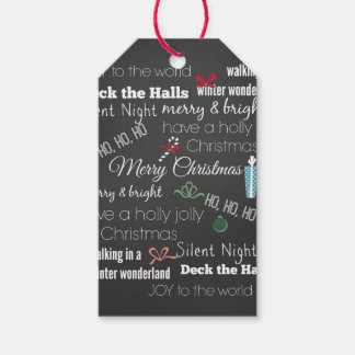 Christmas Quote Typography Pack Of Gift Tags
