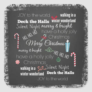 Christmas Quote Typography Square Sticker