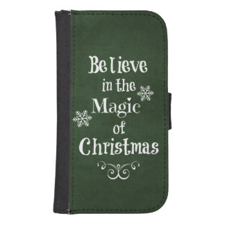 Christmas Quote Wallet Phone Case For Samsung Galaxy S4