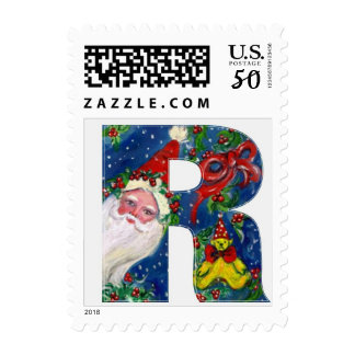 CHRISTMAS R LETTER / SANTA CLAUS WITH RED RIBBON POSTAGE