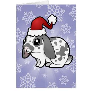 Christmas Rabbit (floppy ear smooth hair) Card