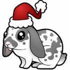 Christmas Rabbit (floppy ear smooth hair) Cutout