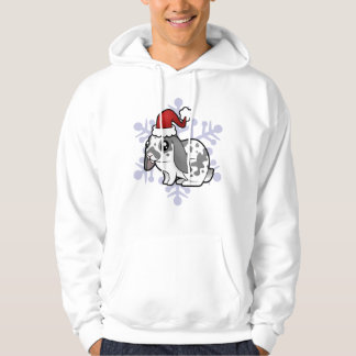 Christmas Rabbit (floppy ear smooth hair) Hoodie