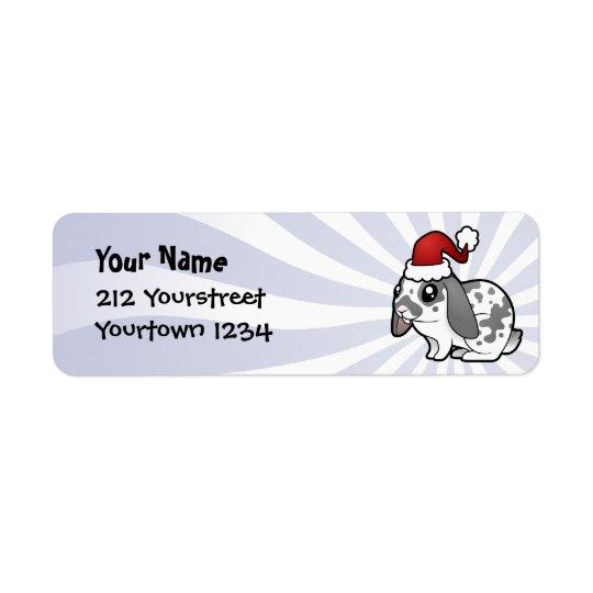 Christmas Rabbit (floppy ear smooth hair) Label