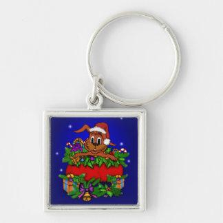 Christmas Rabbit Keychain