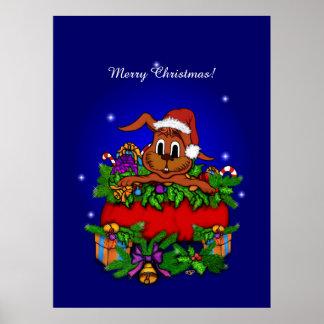 Christmas Rabbit Print