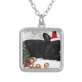 Christmas Rabbit Silver Plated Necklace