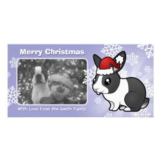 Christmas Rabbit (uppy ear smooth hair) Card
