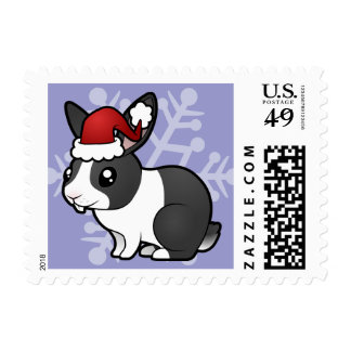Christmas Rabbit (uppy ear smooth hair) Stamps