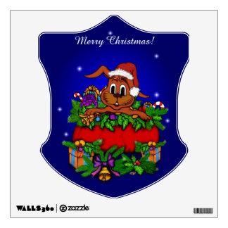 Christmas Rabbit Wall Graphic