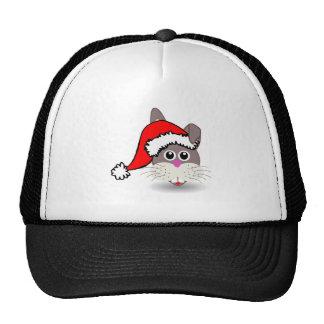 Christmas Rabbit Wearing Santa Hat