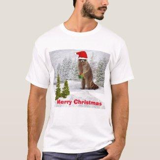 Christmas Raccoon T-Shirt