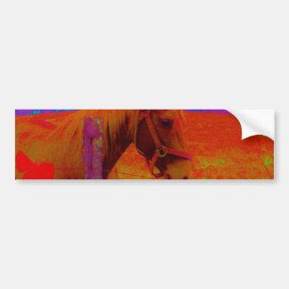 Christmas Rainbow Horse Bumper Sticker