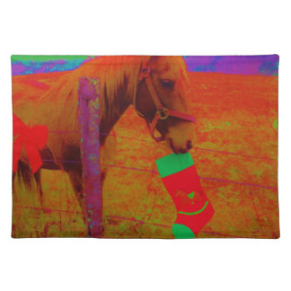 Christmas Rainbow Horse Placemat