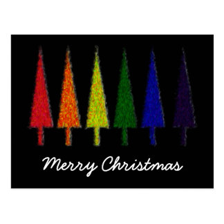 Christmas Rainbow Postcard
