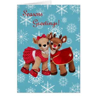 christmas raindeers greetings card FREE SAMPLE