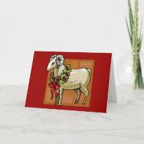 Christmas Ram Holiday Card
