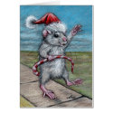 Christmas Rat holiday card
