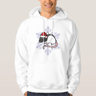 Christmas Rat Hooded Pullover