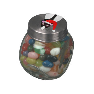 Christmas rat jar of candy jelly belly candy jars