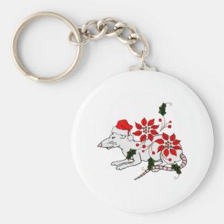 Christmas Rat Keychain