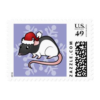 Christmas Rat Postage Stamp