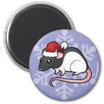 Christmas Rat Refrigerator Magnets